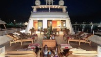 Yacht CAPRICORN -  Upper Aft Deck at Night
